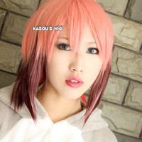 Sora no Otoshimono Ikaros pink brown ombre cosplay wig 150cm long . twin tails . lolita wig