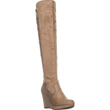 Chinese Laundry Lavish Knee-High Wedge Boots, Mink, 6.5 US / 37 EU