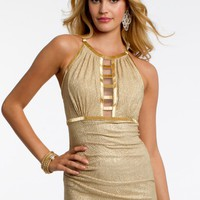 Gold Beaded Ladder Dress