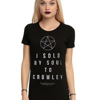 Supernatural Sold My Soul To Crowley Girls T-Shirt