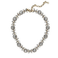 Crystal floral garland necklace - necklaces - Women's jewelry - J.Crew