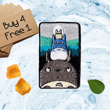My Neighbor Totoro Patches Totoro Patches Iron On Patch Applique Patches For Jackets