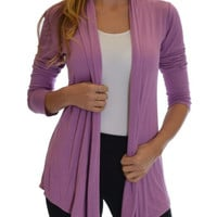 Women's Flyway Purple Cardigan