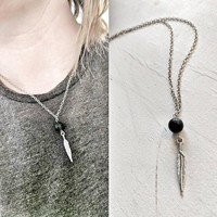Gift Jewelry Stylish Shiny New Arrival Feather Tassels Pendant Necklace [101544525839]
