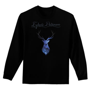 Expecto Patronum Space Stag Adult Long Sleeve Dark T-Shirt
