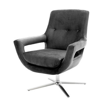 Grey Swivel Chair | Eichholtz Flavio