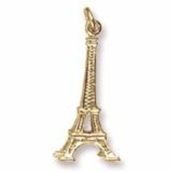 Eiffel Tower Charm in Yellow Gold Plated