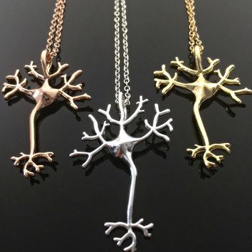 Science Jewelry- Neuron Necklace Gift for her Gift for Doctor Gift for Nurse Birthday Gift Psychology
