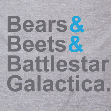 Bears Beets & Battlestar Galactica The office by TheShirtDudes