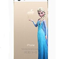 Disney Princess Eating/ Holding Apple logo Sleeping Beauty Aurora Cinderella Tangled Rapunzel Alice in Wonderland Aladdin Jasmine Snow White Frozen Elsa The Little Mermaid Ariel Holding Logo Clear Hard skin Case For Apple iPhone 5 5S (Anna 5/5S)
