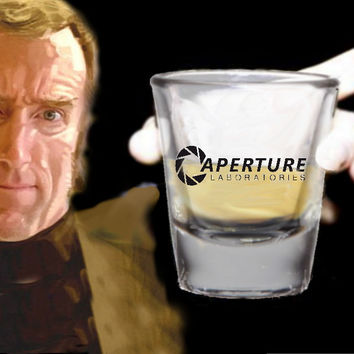 The Aperture Laboratories Portal Video Game Promo Shot Glass LIMITED EDITION