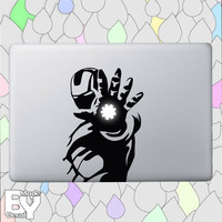 Iron man decal sticker- vinyl decal sticker  for macbook pro air 11'' 13'' 15'' 17'', iPads and other devices
