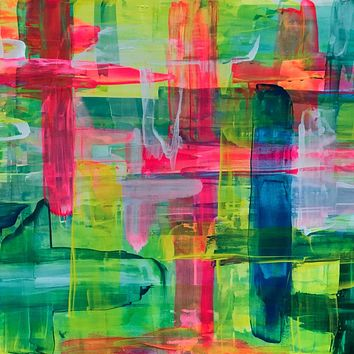 """""""Saturated in Sunshine"""" by Julie Nachamkin, Acrylic and Resin on Board in Pine Cradle"""