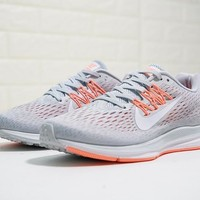 "Nike Air Zoom WINFLO 5 ""Light Grey"" Running Shoes AA7414-006"