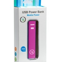 Yubi Power YP250AR 2500mAh Ultra Compact Lipstick Size Portable Power Bank Backup External Battery Charger for iPhones, Samsung Galaxy, Motorola, LG, Nokia, Blackberry, Nokia and various other smartphones- [Stylish and Tiny 3.70 x 0.86 x 0.86 inch Dimensio