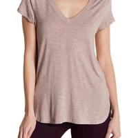 H By Bordeaux | Double V-Neck Solid Tee | Nordstrom Rack