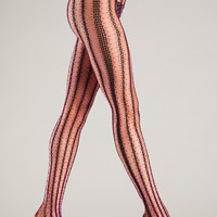 Contrast Vertical Striped Tights