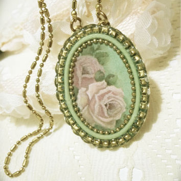 Vintage style necklace with pendant d9122ab194