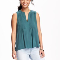 Pintuck Swing Tank for Women | Old Navy