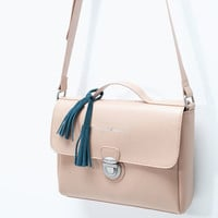 Tassel detail messenger bag