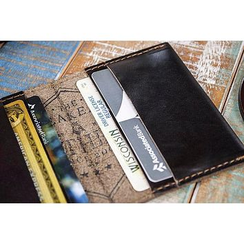 4-Slot Front Pocket Card Sleeve Wallet - The Dip (Horween Chromexcel Leather)
