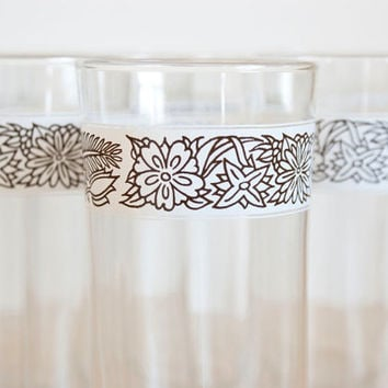 Pyrex Corelle Coordinates Woodland Pattern Glass Tumblers, Set of 4-8 (Your Choice)