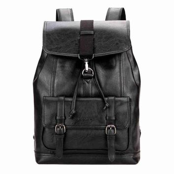 University College Backpack VICUNA POLO Personality Leather Drawstring  Leather Men  Cool Fashion  Teen  mochila escolarAT_63_4