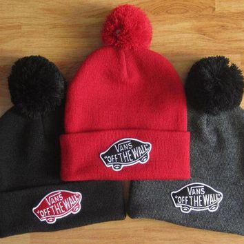 LMFON VANS Woman Men Fashion Beanies Winter Knit Hat Cap