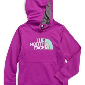 The North Face Girl's 'Logo Surgent' Fleece Pullover Hoodie,