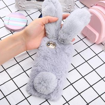 Furry Bunny Phone Case   - For iPhone 6, 6 Plus