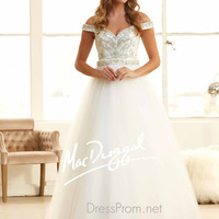 Off The Shoulder Sweetheart Prom Ball Gown By Mac Duggal 48234H