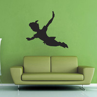 Peter Pan Silhouette Wall Decal - No 2
