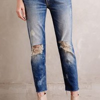 Mother Dropout Fray Skinny Jeans in Reckless Size: