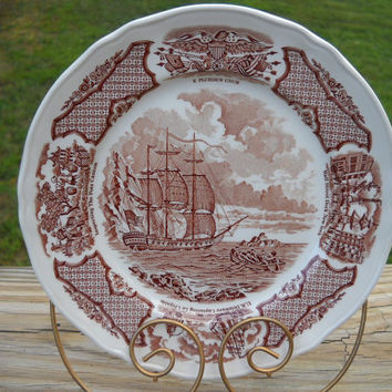 "Vintage Alfred Meakin Fair Winds ""Foreign Trading Headquarters"" Plate - Canton 1815"