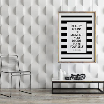 COCO CHANEL PRINT,Inspirational Poster,Coco Chanel Quote,Fashionista,Chic Print,Famous,Gift For Her,Chanel Sign,Chanel Logo,Wall Ar,Quotes