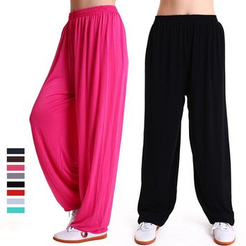 Modal Pants Bloomers Winter Yoga Clothing Tai Chi Square Dance Yoga Pants Kung Fu Running Pants Both Men and Women