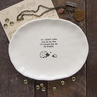 Mom  Hedgehog  Giving  Collection  Dresser  Tray  From  Natural  Life