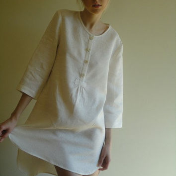 Linen night shirt for woman by LGlinen on Etsy