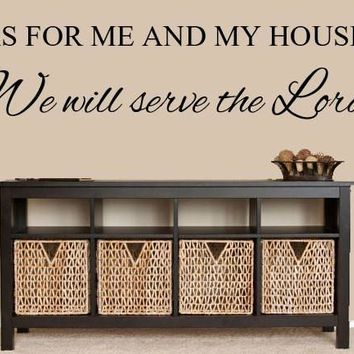 As For Me and My House Bible Verse Wall Decals