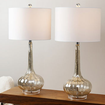 ABBYSON LIVING Mercury Antiqued Glass Table Lamp (Set of 2) | Overstock.com Shopping - The Best Deals on Lamp Sets