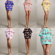 50th Lady Tea Party Vintage Career Formal Floral Print Fitted Peplum Skirt S/M/L