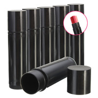 Empty Lip Balm Lipstick Container Tube Black Plastic Cosmetics Bottle