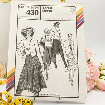 Gored Skirt  - Pattern 430  - Vintage Sewing Pattern  - Vintage Pattern  - Vintage Stretch & Sew Pattern  - 1980s Pattern  - Ann Person