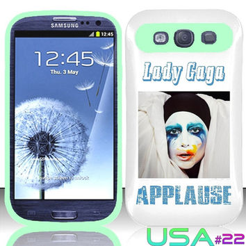 USA Design #22 - Samsung Galaxy S3 Glow in Dark Case # Lady Gaga Applause Album @ Cover for Galaxy S3 i9300 case
