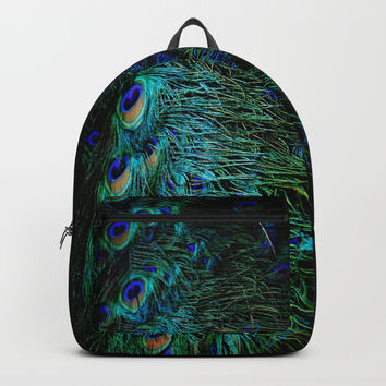 Peacock Details Backpacks by ARTbyJWP
