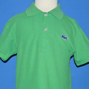 80s Izod Lacoste Solid Green Alligator Polo Shirt Toddler 3T