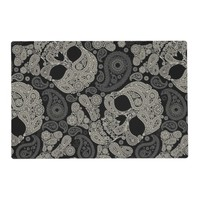 Sugar Skull Crossbones Pattern Placemat