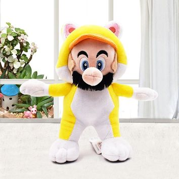 Super Mario party nes switch New Arrival Yellow Cat  Plush Toy 18cm  3D World  Plush Toy Soft Doll With Tag   AT_80_8