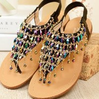 Colorful Rhinestone Bohemia Sandals