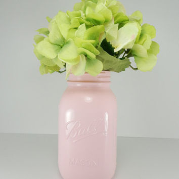 Light Pink Mason Jars. for decor and CENTERPIECES. CUSTOM ORDERS welcome